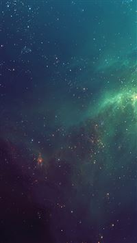 Fantasy Shiny Starry Green Nebula Starry Space Skyscape iPhone 6(s)~8(s) wallpaper