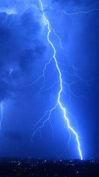 Cool Lightning Strikes iPhone 6(s)~8(s) wallpaper
