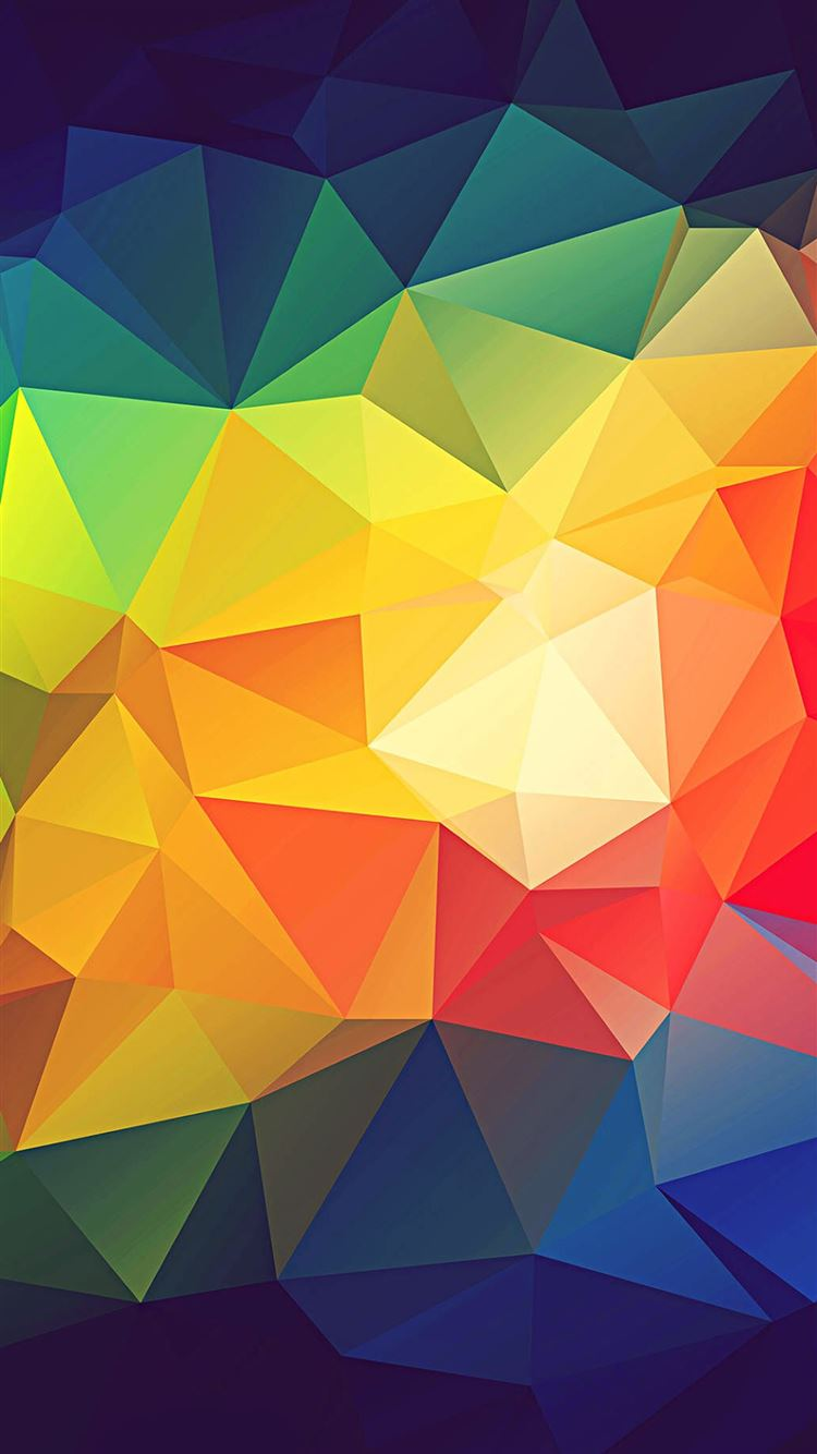 Colorful Abstract Triangle Shapes Render iPhone 8 Wallpaper Download ...