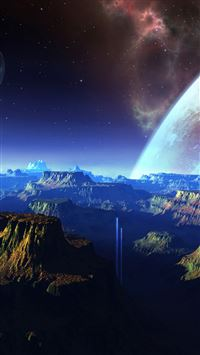 Nature Outer Space Mountains Skyscape iPhone 6(s)~8(s) wallpaper