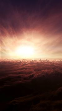 Spectacular Cloudy Outer Space Sunshine Skyscape iPhone 6(s)~8(s) wallpaper