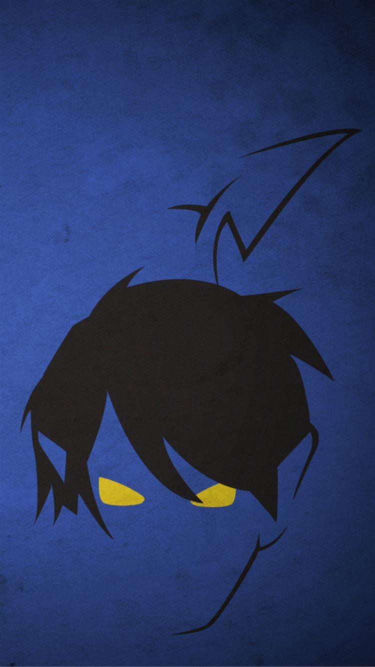 dark comic anime face art drawn iphone 7 wallpaper