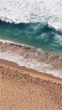 Beach Wave Coast Nature Sea Water Summer iPhone 6(s)~8(s) wallpaper