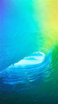 Apple Wave Rainbow Sea Ocean iPhone 6(s)~8(s) wallpaper