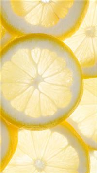 Fresh Cool Lemon Slice Overlap Background iPhone 6(s)~8(s) wallpaper