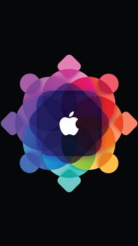 Abstract Overlap Pattern Apple Logo iPhone 6(s)~8(s) wallpaper