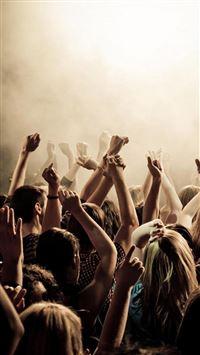 Lively Concert Crowd Art  iPhone wallpaper