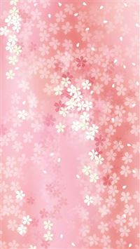 Pure Dreamy Flower Pattern Background iPhone 6(s)~8(s) wallpaper