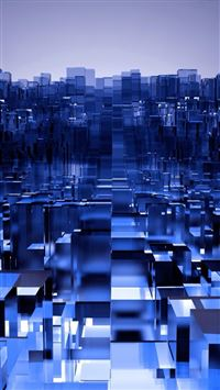 Abstract Fantasy Dimensional 3d Dimensions Cube Art iPhone 6(s)~8(s) wallpaper
