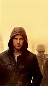 Mission Impossible Tom Cruise Film Art Yellow iPhone 6(s)~8(s) wallpaper