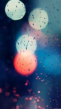 Bokeh Rainy Window Glass Water Drop iPhone 6(s)~8(s) wallpaper