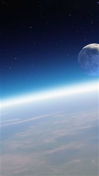 Moon Orbit Outer Space View iPhone 6(s)~8(s) wallpaper