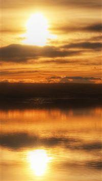 Nature Calm Lake Reflection Landscape iPhone wallpaper