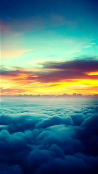 Nature Wonderful Sunset Thick Cloudy Skyview iPhone 6(s)~8(s) wallpaper