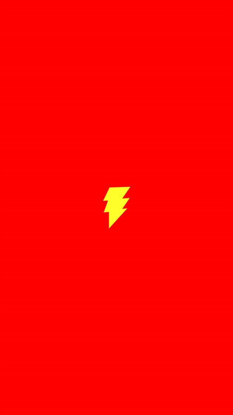 Flash Comic Hero Minimal Red Art Logo Iphone 8 Wallpaper Download