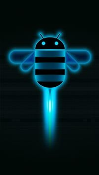 Funny Shiny Light Dark Bee Art Design iPhone 6(s)~8(s) wallpaper