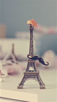 Eiffel Tower Moustache Hat Miniature iPhone 6(s)~8(s) wallpaper