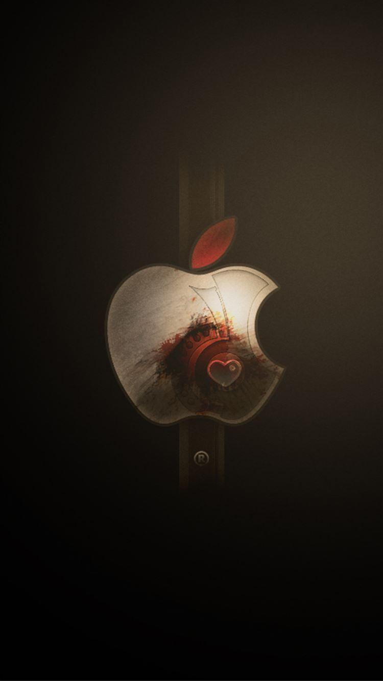Apple Logo Art Landscape Iphone 8 Wallpapers Free Download