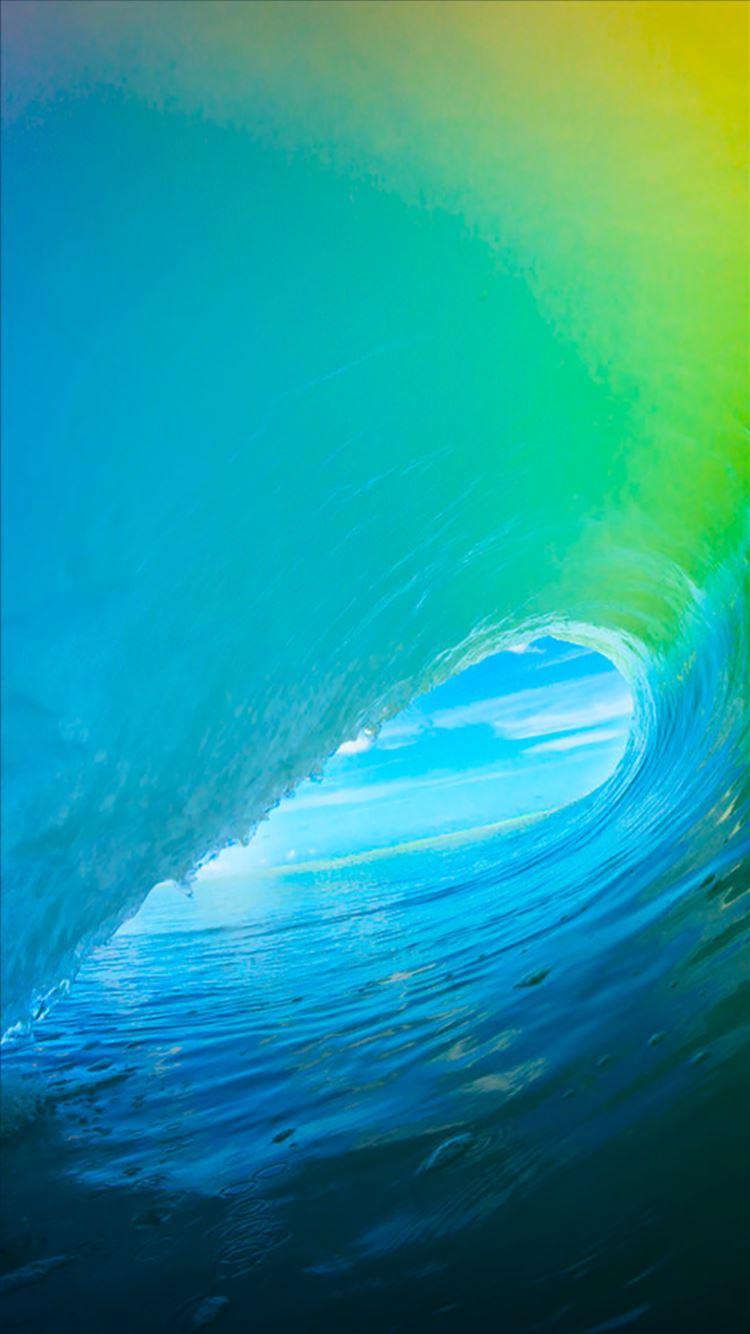 ... Pure Bright Cyan Ocean Surging Wave Pattern IOS9 Wallpaper IPhone 8  Wallpaper.