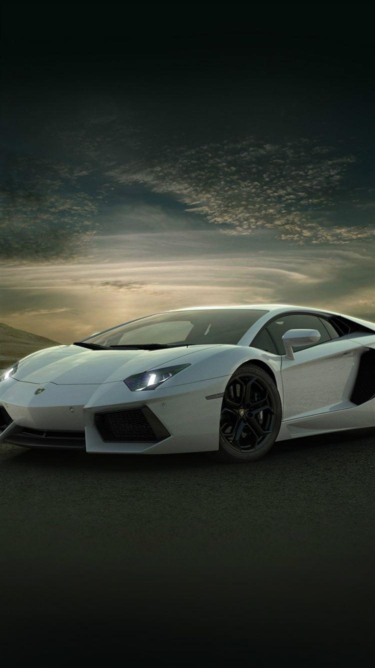 Lamborghini Car Exotic White Art Iphone 8 Wallpapers Free Download