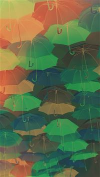 Umbrella Party Red Pattern iPhone 6(s)~8(s) wallpaper