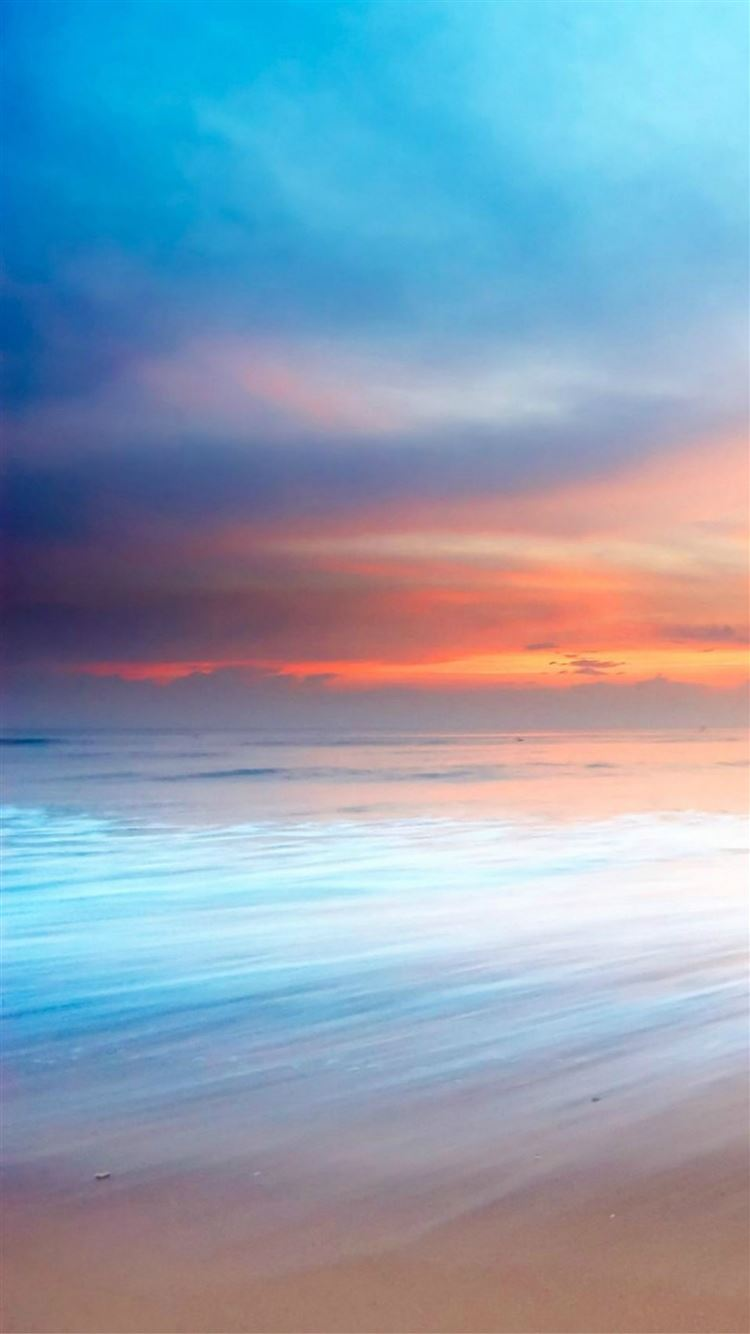 Nature Ocean Beach Sunset Bokeh Sky View Iphone 8 Wallpapers