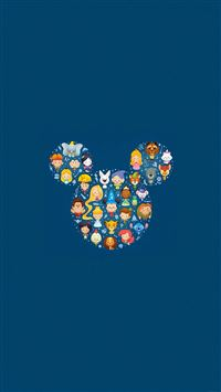 Disney Art Character Cute Illust iPhone 6(s)~8(s) wallpaper