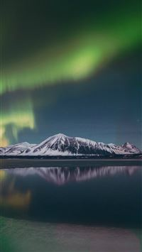 Aurora Night Sky Green Bokeh Instagram Art Nature iPhone 6(s)~8(s) wallpaper