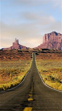 Nature Endless Road Rock Mountains Landscape iPhone 6(s)~8(s) wallpaper