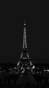 Paris Night France City Dark Eiffel Tower iPhone 6(s)~8(s) wallpaper