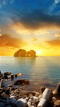 Coast Tranquil Sunset Landscape iPhone 6(s)~8(s) wallpaper