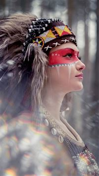 Tribal Beauty Photography iPhone 6(s)~8(s) wallpaper