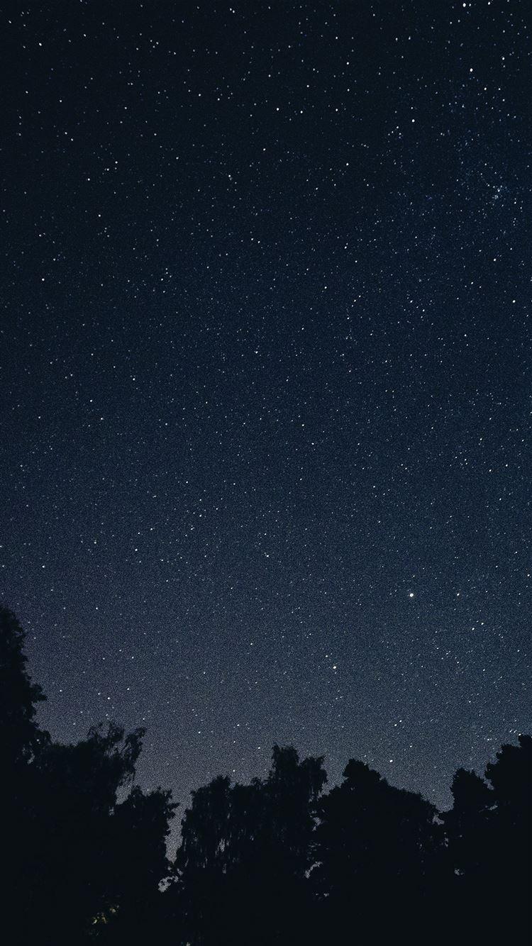 Starry Night Sky Star Galaxy Space Dark Iphone 8 Wallpapers