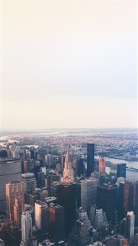 New York Flare Blue City Sky iPhone 6(s)~8(s) wallpaper