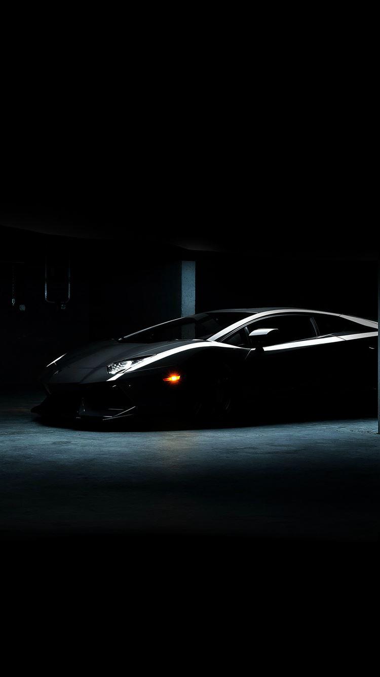 ... Lamborghini Car Dark Black Awesome IPhone 8 Wallpaper.