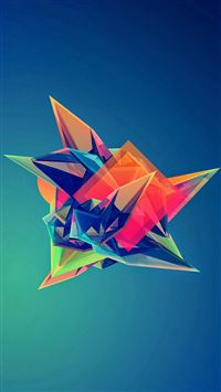 Colorful Cool Abstract Polygonal Shape iPhone 6(s)~8(s) wallpaper