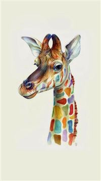 Friendly Giraffe Colorful  iPhone 6(s)~8(s) wallpaper