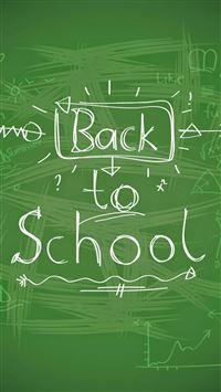 Back To School Handwriting iPhone 6(s)~8(s) wallpaper