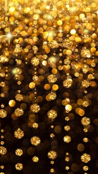Gold Rain Shine Holiday Background Flicker Glow Jewelry Stones Light iPhone 6(s)~8(s) wallpaper