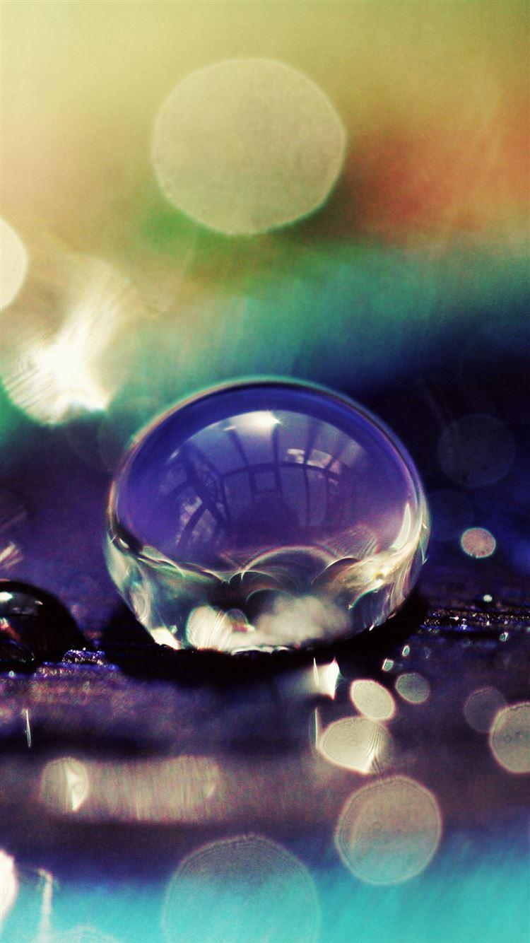Macro Purple Water Drop Bokeh Iphone 8 Wallpapers Free Download