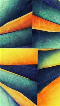 Colorful Cube Lines Corner iPhone 6(s)~8(s) wallpaper