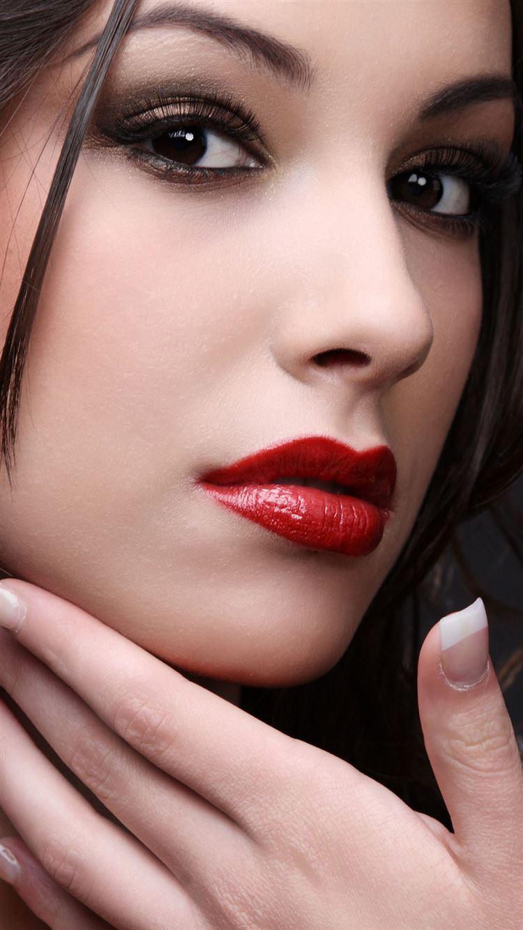 Mac Red Lipstick Portrait iphone 8 wallpaper ilikewallpaper com