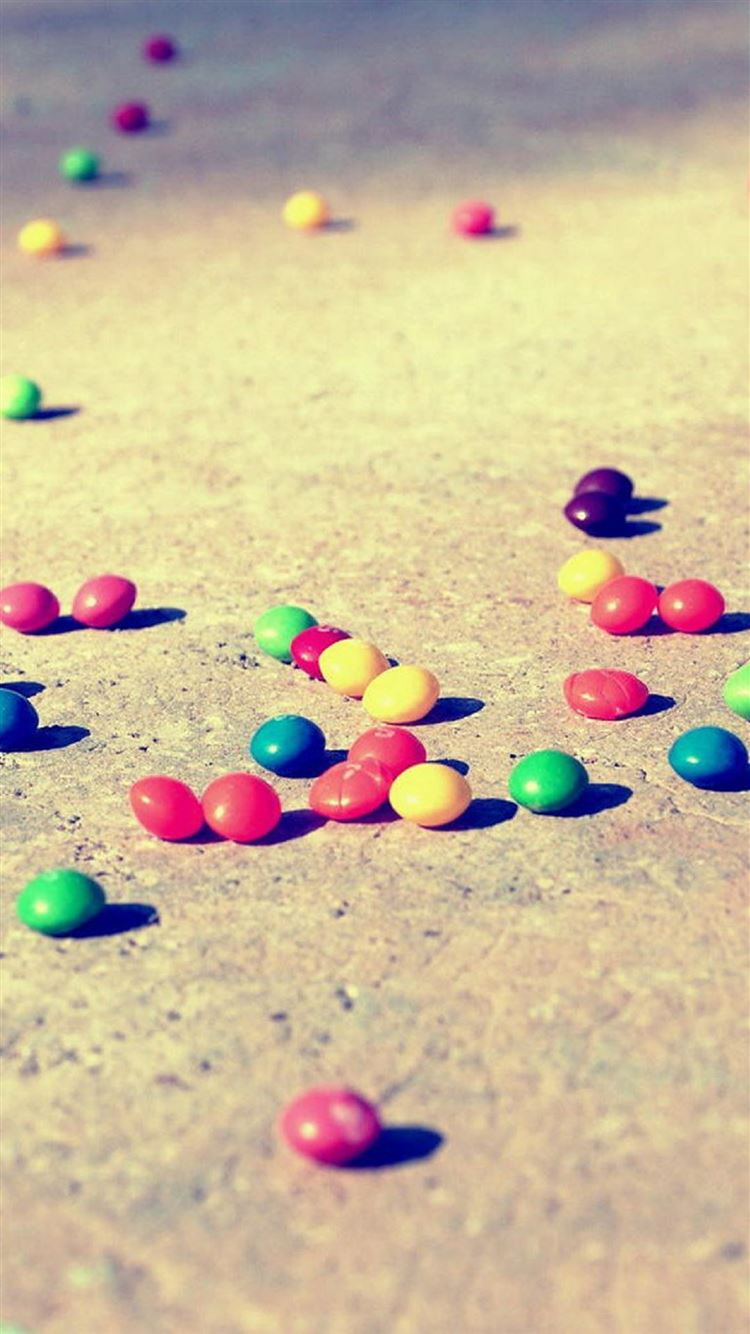 ... Colorful Candies On The Ground iPhone 8 wallpaper.