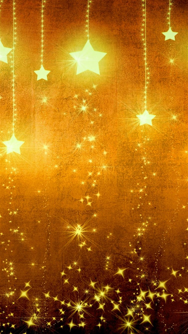 Star Gold Holiday Background Brown Yellow Light Texture Iphone 8