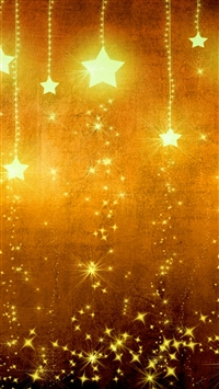 Star Gold Holiday Background Brown Yellow Light Texture iPhone 6(s)~8(s) wallpaper