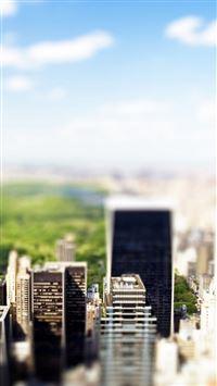 New York Central Park Tilt Shift  iPhone 6 wallpaper