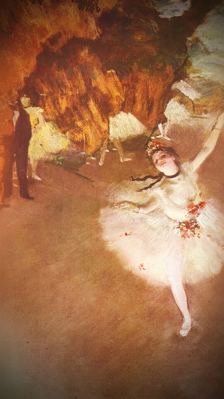 Edgar Degas Ballerina Classic Painting Art Illust Iphone 8 Wallpapers Free Download