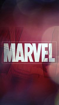 Marvel Logo Film Art Illust Minimal Bokeh iPhone 6(s)~8(s) wallpaper