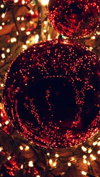 Christmas Light Balls Holiday Life City iPhone 6(s)~8(s) wallpaper