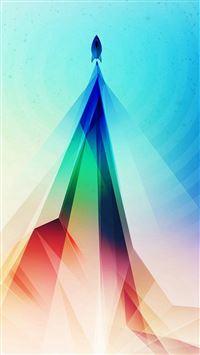 Rainbow Blue Tower Graphic Digital Pattern iPhone 6(s)~8(s) wallpaper